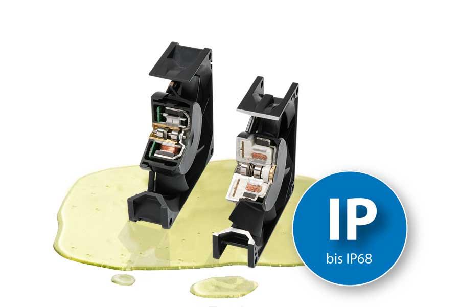 Vyšší krytí - až IP68