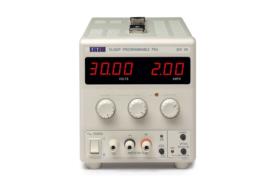 EL302P Bench DC Power Supply, Linear Regulation, Analog Controls 30V/2A Single Output, RS-232