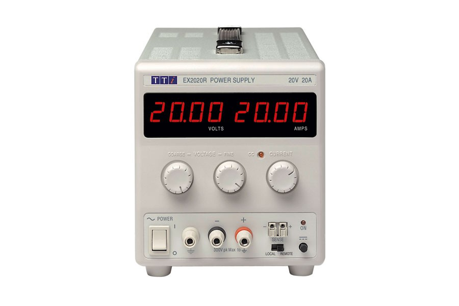 EX2020R Bench DC Power Supply, Mixed-mode Regulation, Analog Controls 20V/20A Single