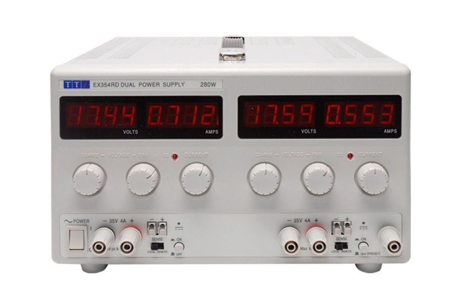 EX354RD Bench DC Power Supply, Mixed-mode Regulation, Analog Controls Dual Output 2 x 35V/4A