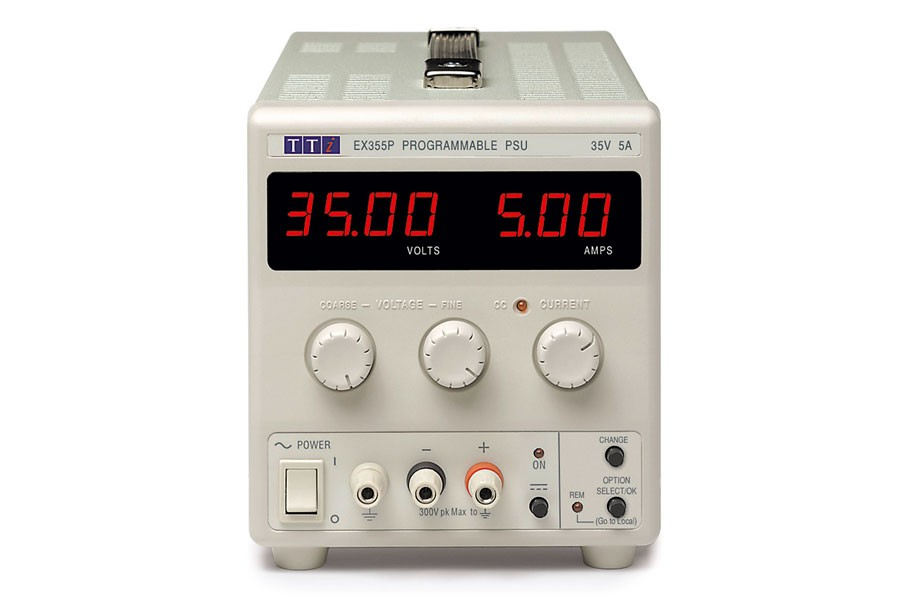 EX355P Bench DC Power Supply, Mixed-mode Regulation, Analog Controls 35V/5A Single Output, RS-232