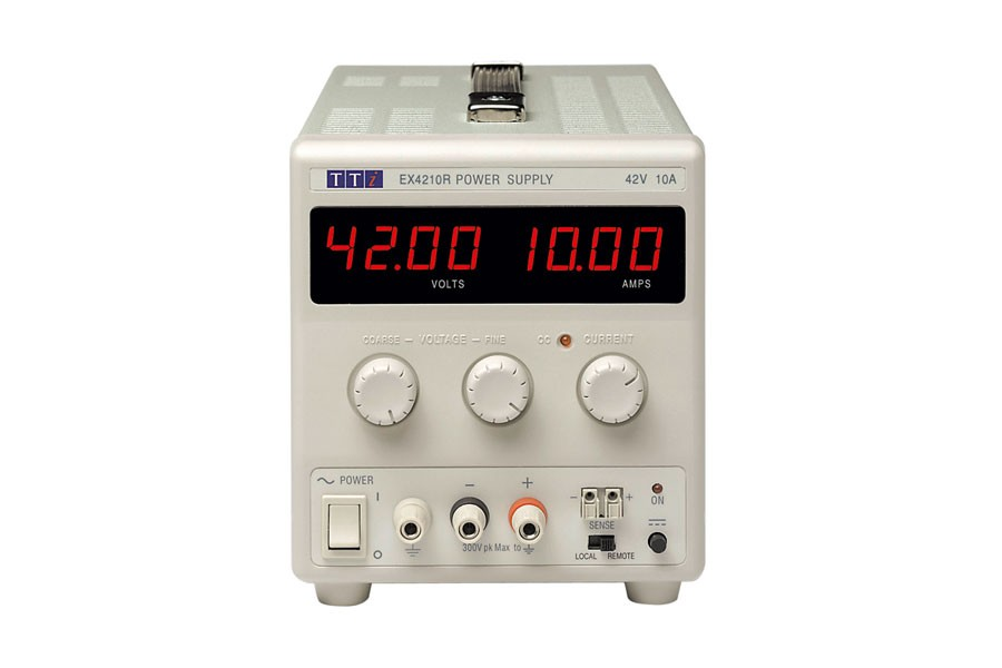 EX4210R Bench DC Power Supply, Mixed-mode Regulation, Analog Controls 42V/10A Single