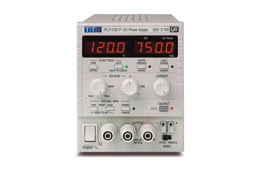 PLH120 Bench/System Higher Voltage DC Power Supply, Linear Regulation 120V/0.75A, No Interfaces