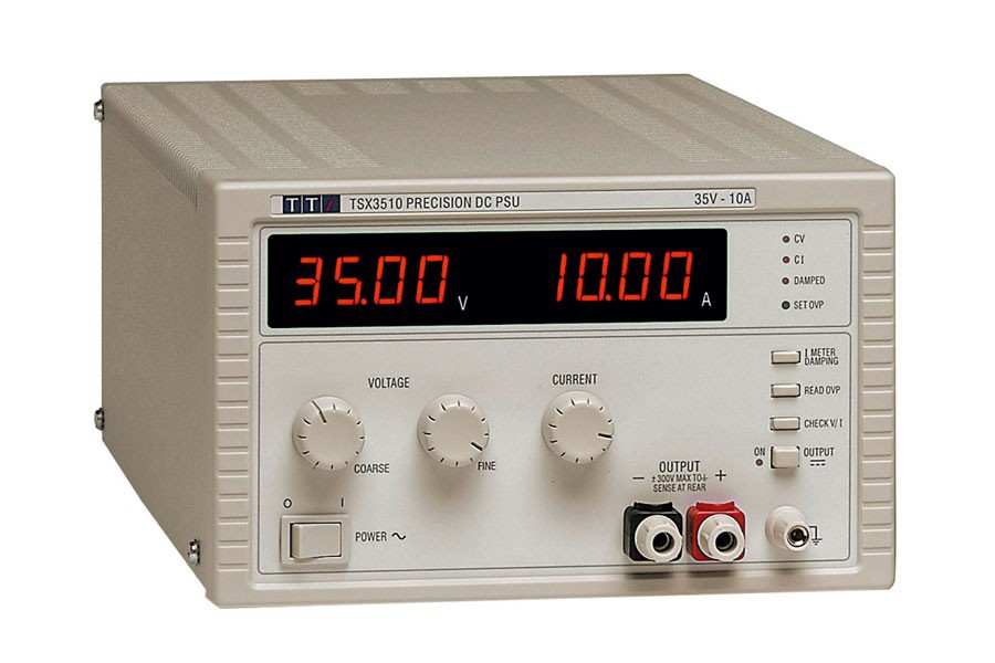 TSX3510 Bench/System DC Power Supply, Single Output, Mixed-mode Regulation 35V/10A with Analog Controls, No Remote Interfaces